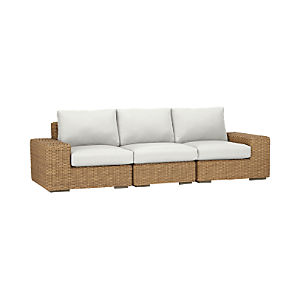 Newport 3-Piece Sectional with Sunbrella® White Sand Cushions