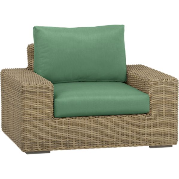 Newport Lounge Chair with Sunbrella® Bottle Green Cushions