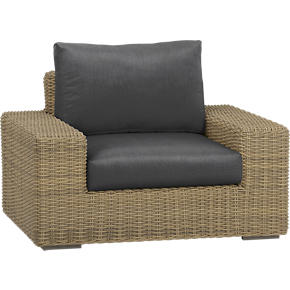 Newport Lounge Chair with Sunbrella® Charcoal Cushions