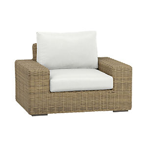 Newport Lounge Chair with Sunbrella® White Sand Cushions
