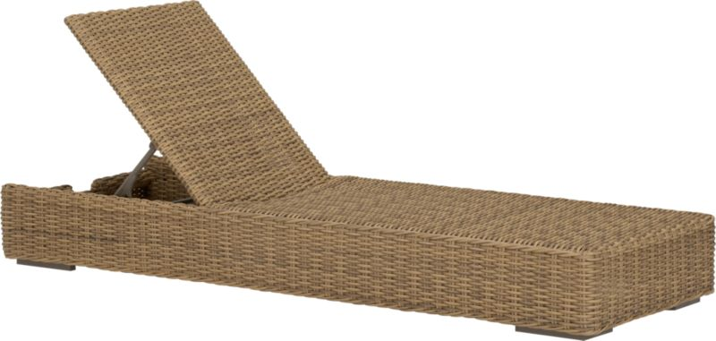 Low-slung and lounge-worthy, our Newport collection extends a welcome invitation to kick back and relax. Modern, squared profiles mix and match to suit your space, handwoven in a contemporary, chunky weave of eco-friendly, care-free resin wicker neatly wrapped over clean aluminum frames with a taupe powdercoat finish. Sleek chaise adjusts to five positions, including flat.<br /><br /><NEWTAG/><ul><li>Handwoven</li><li>100% recyclable polyethylene resin wicker</li><li>Aluminum frame with powdercoat finish</li><li>UV-resistant</li><li>Adjusts to five positions, including flat</li><li>Cover or store inside during inclement weat