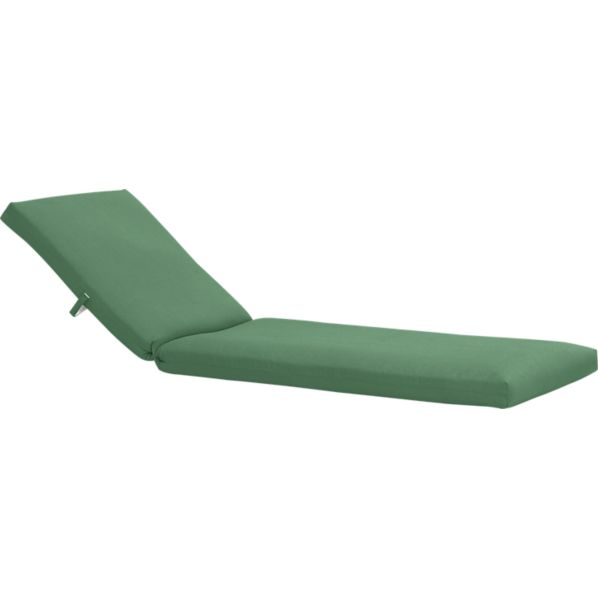 Newport Sunbrella® Bottle Green Chaise Lounge Cushion