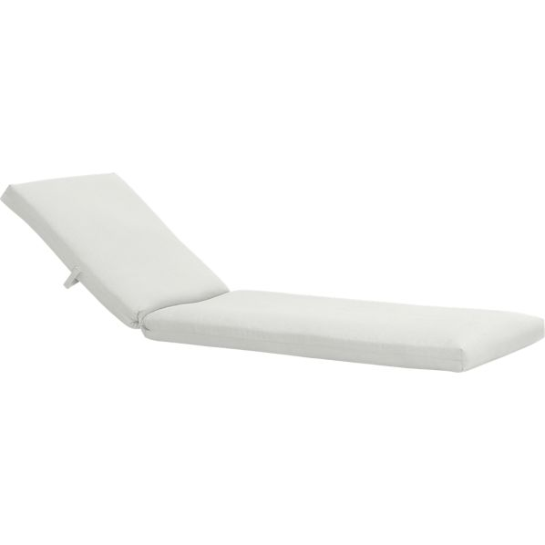 Newport Chaise Lounge with Sunbrella® White Sand Cushion in