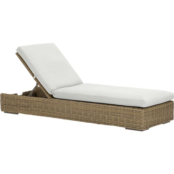 Newport Chaise Lounge with Sunbrella® White Sand Cushion