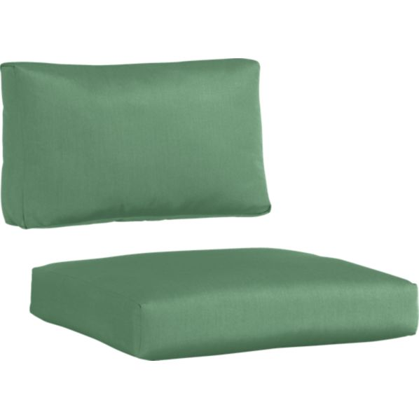 Newport Sunbrella® Bottle Green Modular Armless Chair Cushions