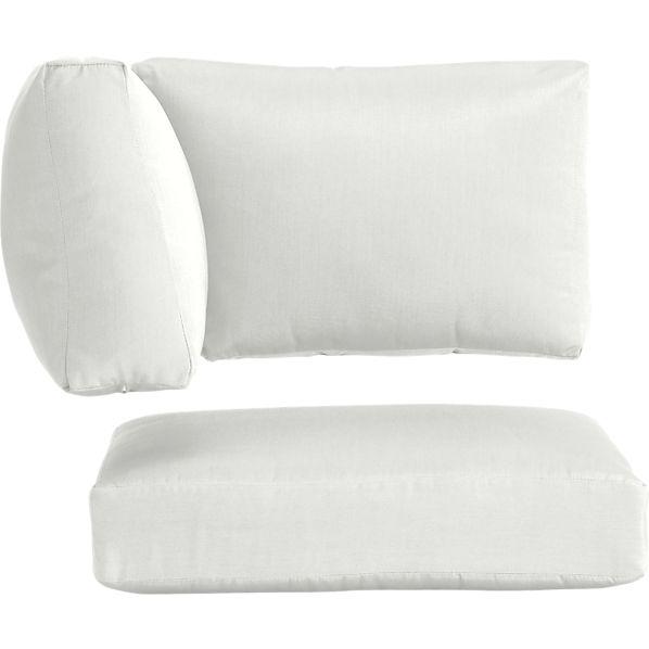 Newport Sunbrella ® White Sand Modular Corner Cushions