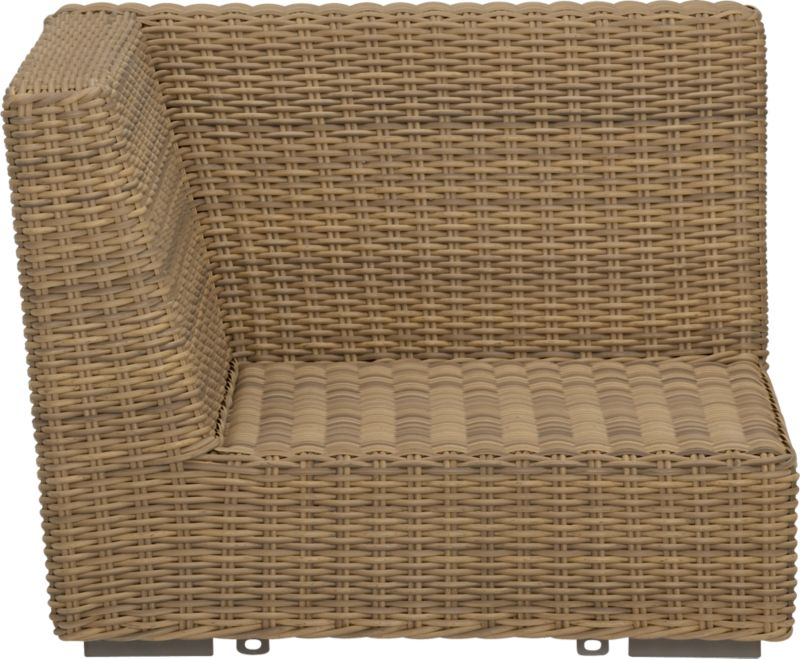 Low-slung and lounge-worthy, our Newport collection extends a welcome invitation to kick back and relax. Modern, squared profiles mix and match to suit your space, handwoven in a contemporary, chunky weave of eco-friendly, care-free resin wicker neatly wrapped over clean aluminum frames with a taupe powdercoat finish.<br /><br /><NEWTAG/><ul><li>Handwoven</li><li>100% recyclable polyethylene resin wicker</li><li>Aluminum frame with powdercoat finish</li><li>UV-resistant</li><li>Cover or store inside during inclement weather</li><li>For indoor or outdoor use</li><li>Made in Indonesia&