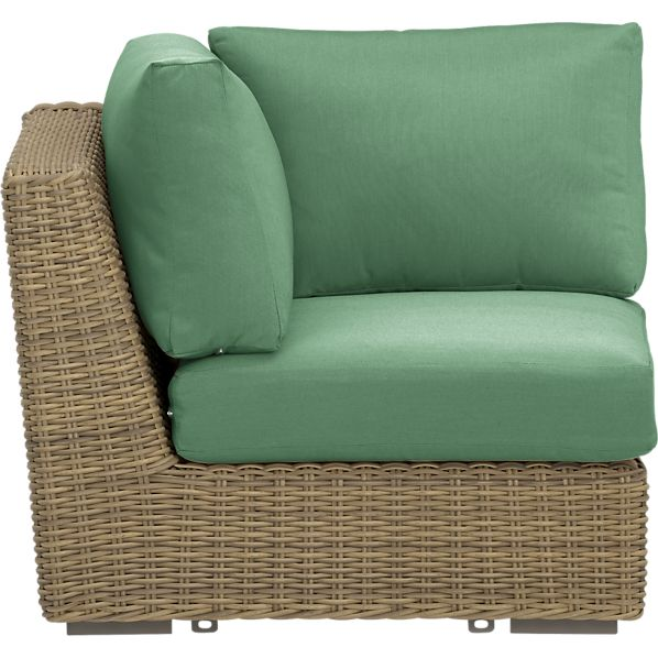 Newport Modular Corner with Sunbrella® Bottle Green Cushions
