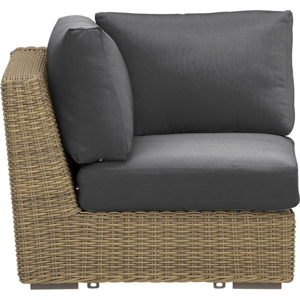 Newport Modular Corner with Sunbrella® Charcoal Cushions