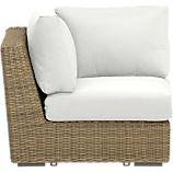 Newport Modular Corner with Sunbrella® White Sand Cushions