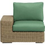 Newport Modular Left Arm Chair with Sunbrella® Bottle Green Cushions