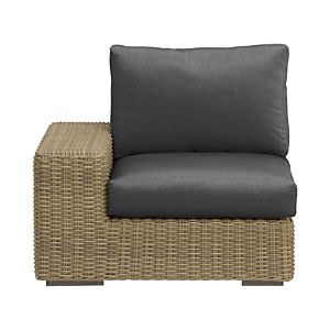 Newport Modular Left Arm Chair with Sunbrella® Charcoal Cushions