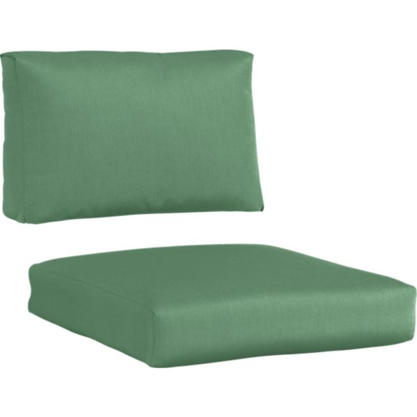 Newport Sunbrella® Bottle Green Left Arm-Right Arm Modular Chair Cushions