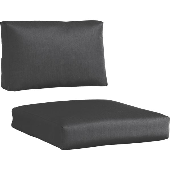 Newport Sunbrella® Charcoal Lounge Chair Cushions