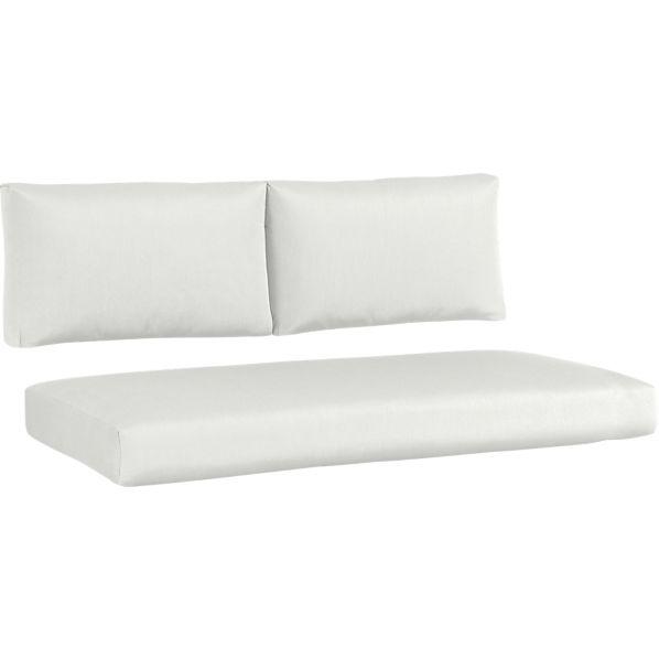 Newport Sunbrella® White Sand Modular Loveseat Cushions