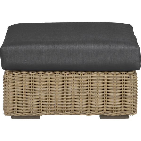 Newport Ottoman with Sunbrella® Charcoal Cushion