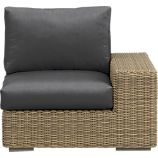 Newport Modular Right Arm Chair with Sunbrella Charcoal Cushions