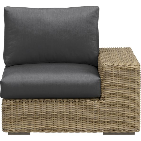 Newport Modular Right Arm Chair with Sunbrella ® Charcoal Cushions