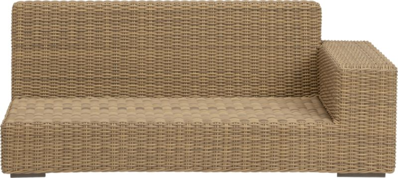 Low-slung and lounge-worthy, our Newport collection extends a welcome invitation to kick back and relax. Modern, squared profiles mix and match to suit your space, handwoven in a contemporary, chunky weave of eco-friendly, care-free resin wicker neatly wrapped over clean aluminum frames with a taupe powdercoat finish.<br /><br /><NEWTAG/><ul><li>Handwoven</li><li>100% recyclable polyethylene resin wicker</li><li>Aluminum frame with powdercoat finish</li><li>UV-resistant</li><li>Cover or store inside during inclement weather</li><li>For indoor or outdoor use</li><li>Made in Indonesia</l