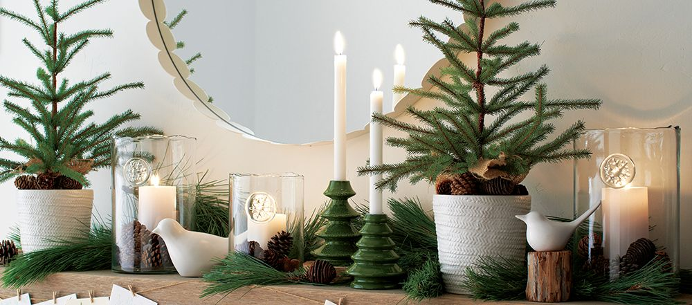 holiday mantel decorating ideas crate and barrel crate and barrel. Black Bedroom Furniture Sets. Home Design Ideas