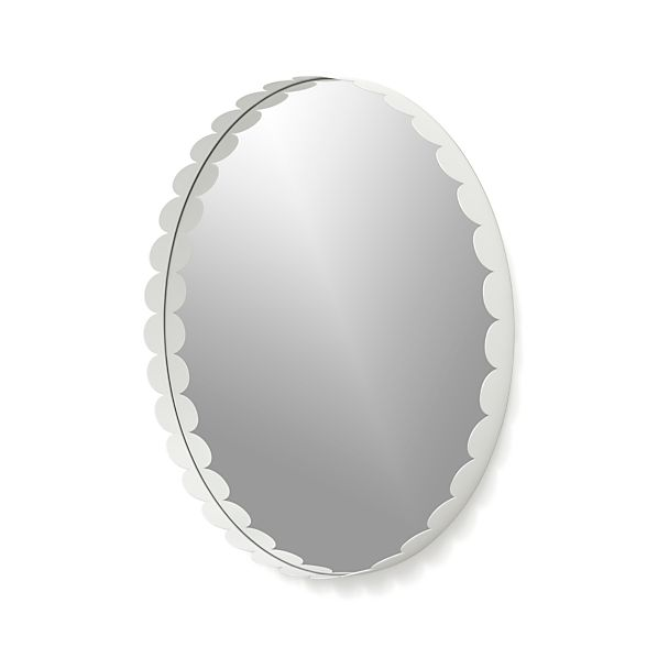 Ninna White Wall Mirror