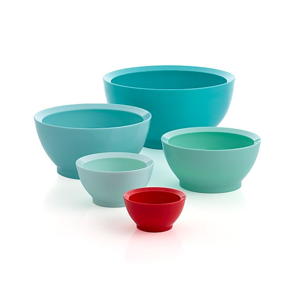 5-Piece Calibowl® Aqua Sky Nonslip Nesting Mixing Bowl Set