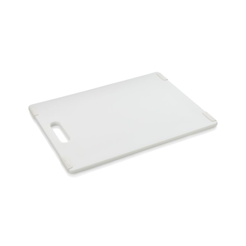 "Jelli® White Nonslip Reversible 11""x14.5"" Cutting Board"