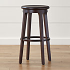 Turner Black Adjustable Backless Bar Stool In Bar Stools