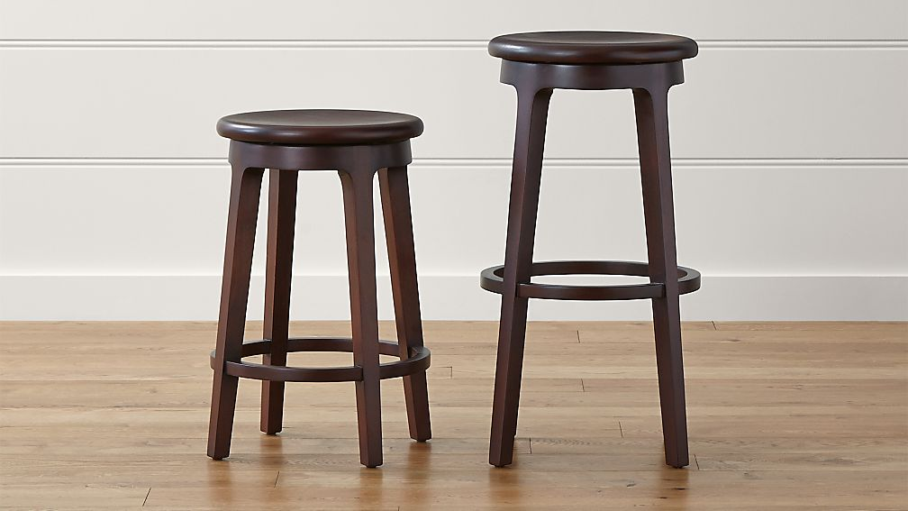 Nora Swivel Backless Bar Stools Crate And Barrel