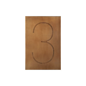 Brass Number 3 Wall Art