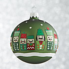 Green Nutcracker Ball Ornament.