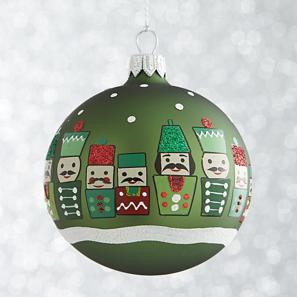 NutcrackerBallGreen8cmF13