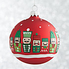 Red Nutcracker Ball Ornament.