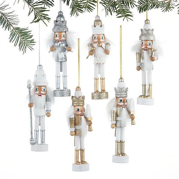 Set of 6 Nutcracker Ornaments
