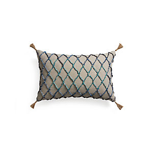 "Nyah 24""x16"" Pillow with Down-Alternative Insert"