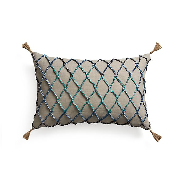 "Nyah 24""x16"" Pillow with Feather-Down Insert"