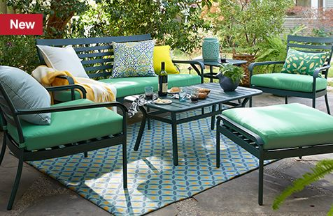 patio sets and outdoor furniture collections crate and barrel