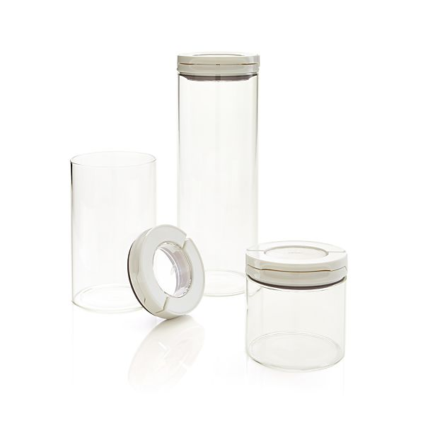 OXO® Glass FlipLock Canisters Set of 3