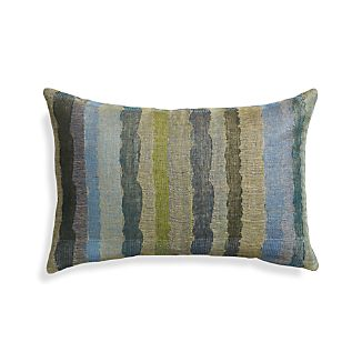 "Ocean 24""x16"" Stripe Pillow"