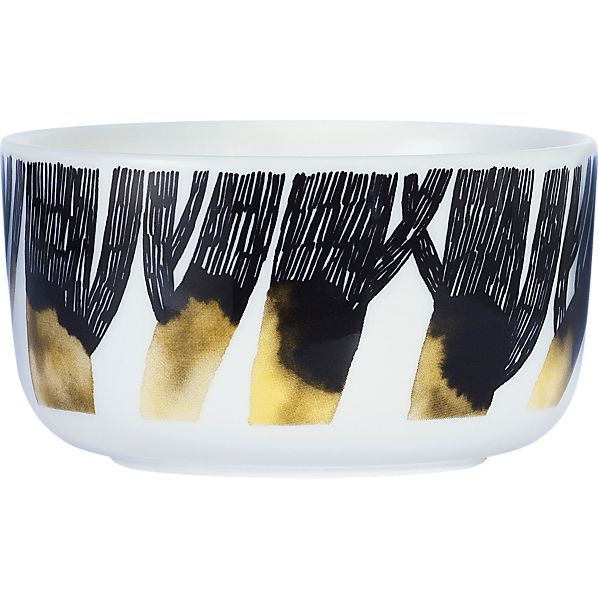 Marimekko Oiva Black and White Bowl