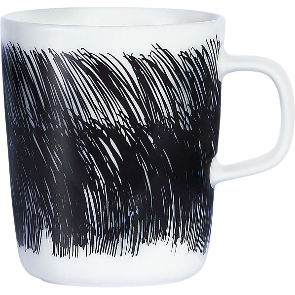 Marimekko Oiva Black and White Mug