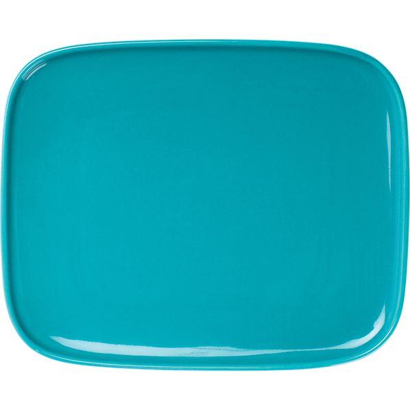 "Marimekko Oiva Turquoise 6""x5"" Plate"