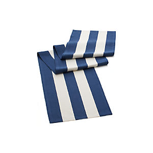 Olin Navy Stripe Table Runner