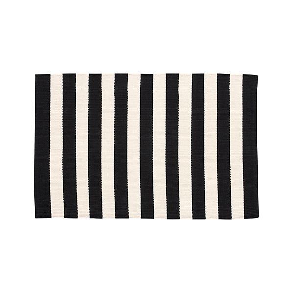 Olin Black 2'x3' Rug