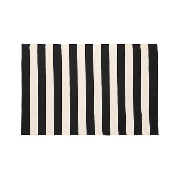 Olin Black 4'x6' Rug