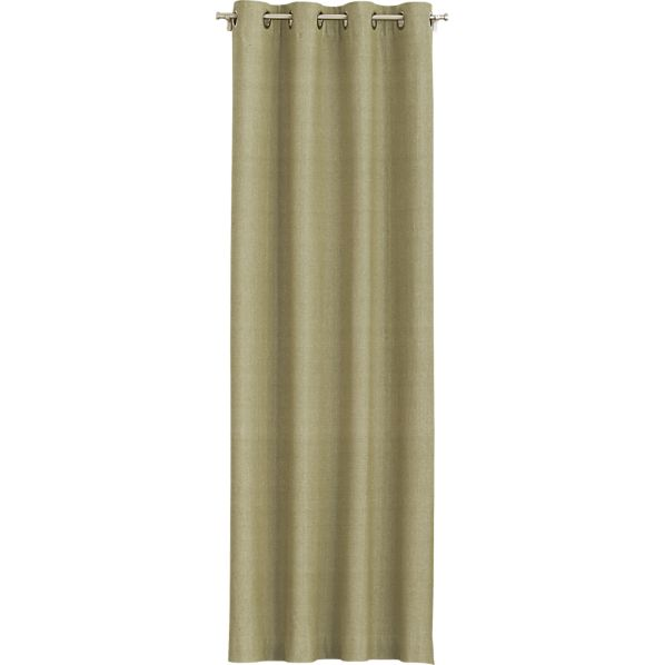Olive Chambray Grommet Curtain Panels