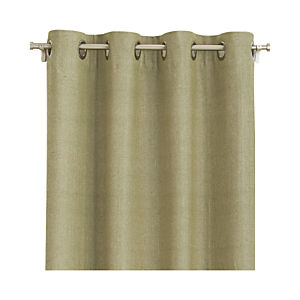 "Olive Chambray Grommet 52""x96"" Curtain Panel"