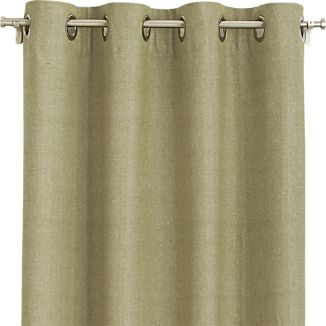 "Olive Chambray Grommet 52""x84"" Curtain Panel"