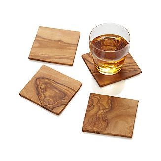 Olivewood Coasters Set of Four