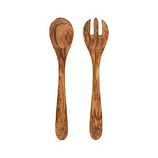 2-Piece Olivewood Salad Server Set